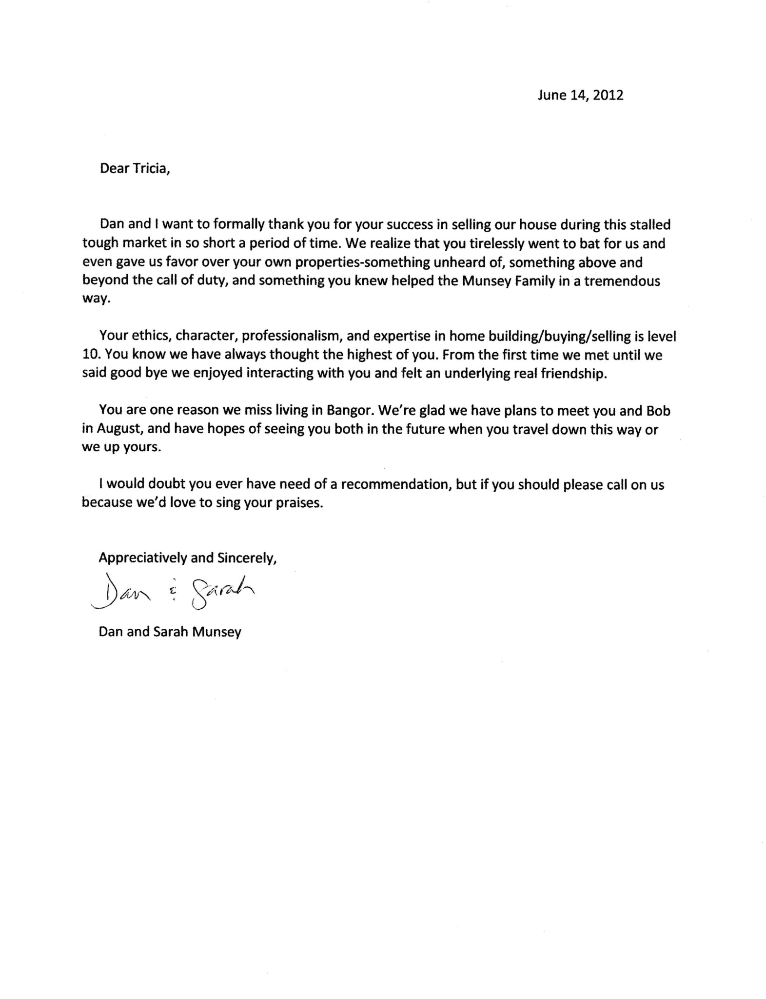 home buyer thank you letter examples template home buyer thank you letter examples